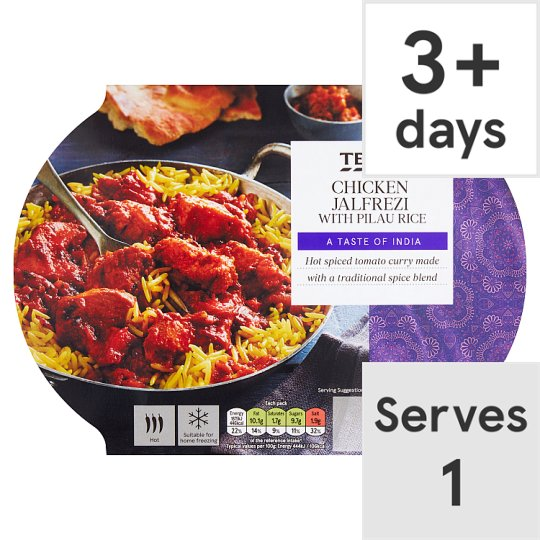 Tesco Chicken Jalfrezi And Rice 450G