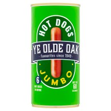 Ye Old Oak 6 Jumbo Hot Dogs Brine 560G