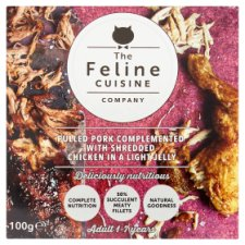 Feline Cuisine Pulled Pork Chicken Cat Pouch 100G