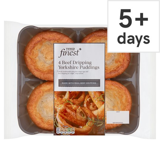 Tesco Finest Yorkshire Puddings 4 Pack 190G
