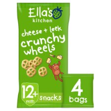 image 1 of Ella's Kitchen Cheese And Leek Crunchy Wheels 4X15g