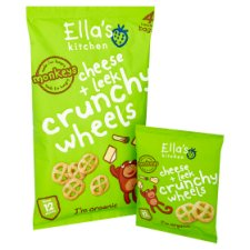 image 2 of Ella's Kitchen Cheese And Leek Crunchy Wheels 4X15g