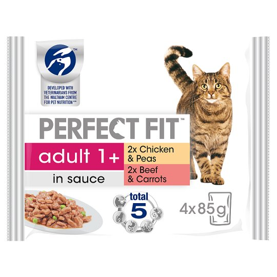 image 1 of Perfect Fit Meat Cat Food Pouches 4 X 85G