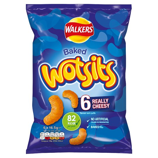 Walkers Wotsits Cheese Snacks 6 Pack 16.5G