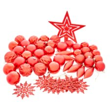 Tesco Red Decorations 50 Pack