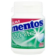 Mentos Gum White Spearmint Bottle 60G