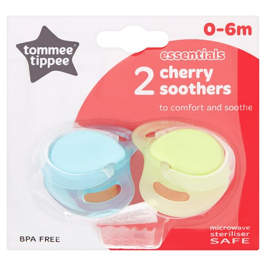 Tommee Tippee Cherry Soothers 0-6 Months X2
