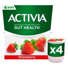 Activia Strawberry Yogurt 4 X 120G