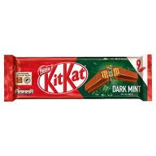 Kit Kat 2 Finger Dark Mint Biscuits 9 Pack 186.3G