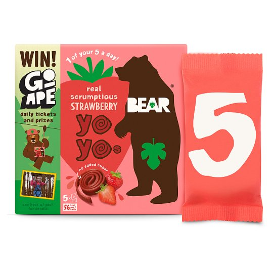 Bear Strawberry Yoyo Multipack 5X20g