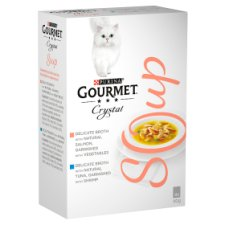 image 1 of Gourmet Soup With Salmon 4X40g Cat Food