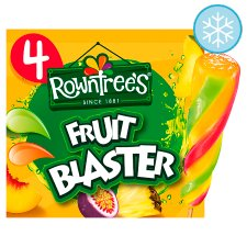 Rowntrees Fruit Blaster Lollies 4X80ml