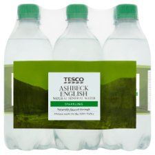 Tesco Sparkling Water 6X500ml