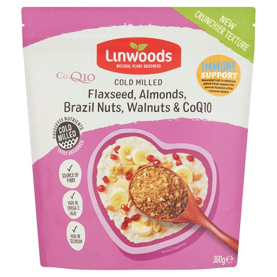 Linwoods Milled Flax, Nuts And Q10 360G