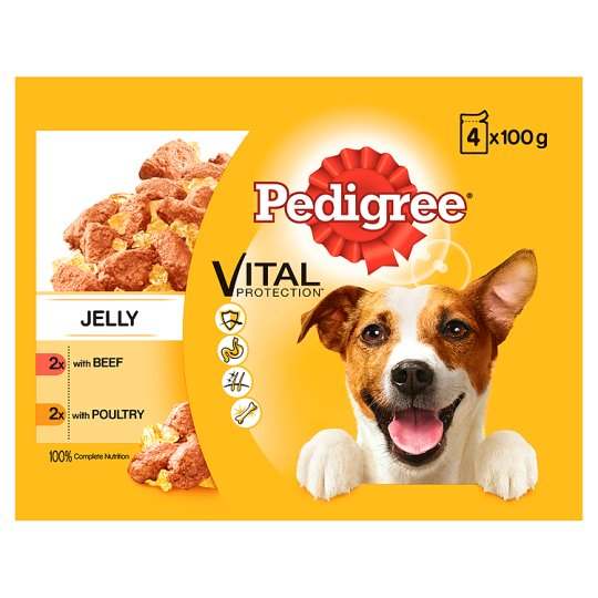 image 1 of Pedigree Beef And Poultry Jelly Pouches 4 X100g