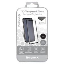 Tortoise Iphone X 3D Glass Protector Black