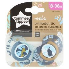 Tommee Tippee Moda Orthodontic 2 Pack Soothers 18-36M