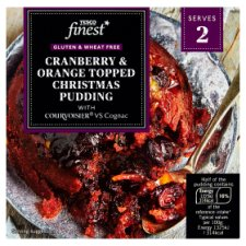 Tesco Finest Free From Cranberry And Orange Christmas Pudding 200G