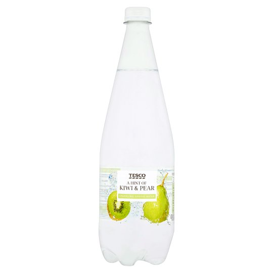 Tesco Hint Of Kiwi And Pear Sparkling Water 1L