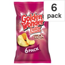 Golden Wonder 6 Pack Smoky Bacon 150G