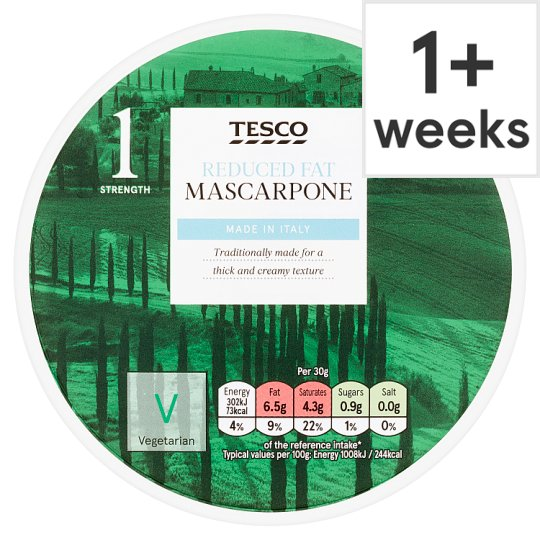 Tesco Reduced Fat Mascarpone 250G