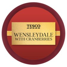 Tesco Wensleydale With Cranberries 100G