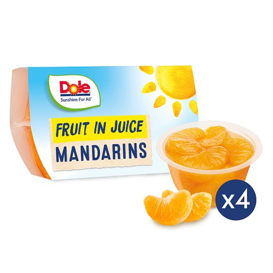 Dole Fruit Bowl Mandarins In Juice 4X113g