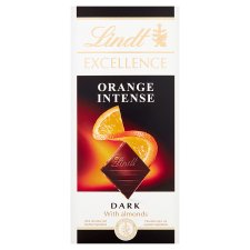 Lindt Excellence Dark Orange Intense Chocolate Bar 100G