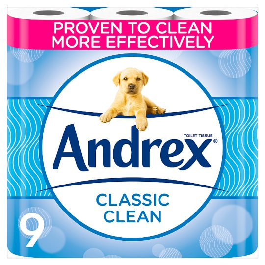 Andrex Toilet Tissue 9 Roll White