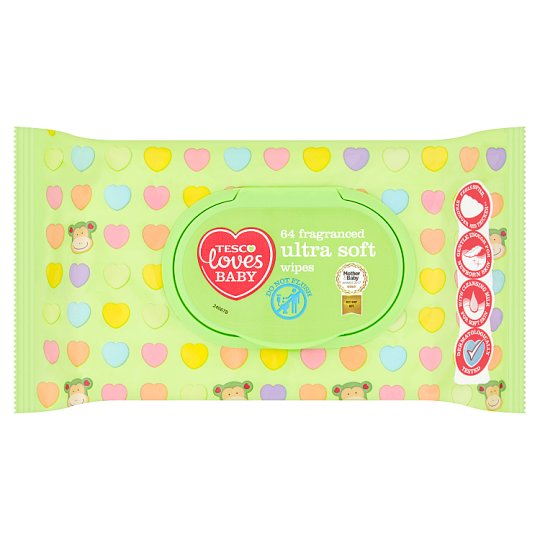 4dd2186a78 Tesco Loves Baby 64 Fragranced Ultra Soft Wipes - Tesco Groceries