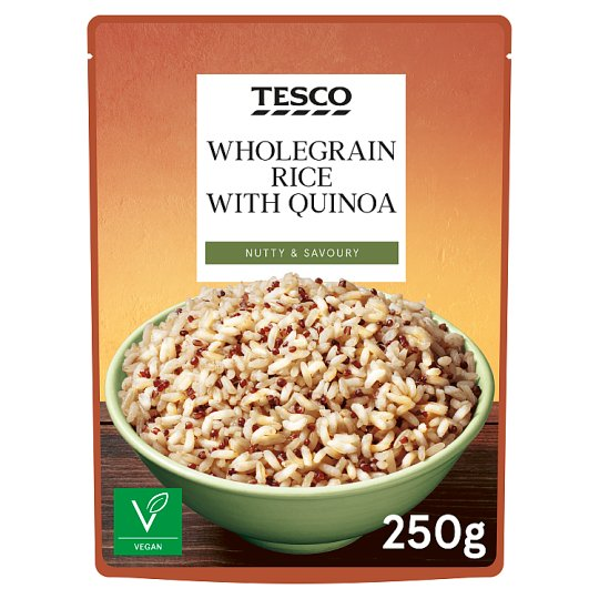 Tesco Wholegrain And Quinoa Microwave Rice 250G