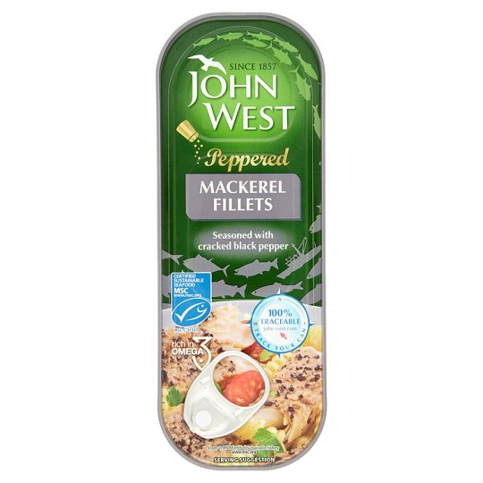 John West Peppered Mackerel 110G