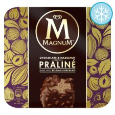 Magnum Chocolate And Hazelnut Praline Ice Cream 3X90ml