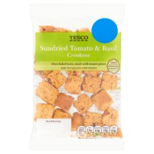 Tesco Sundried Tomato And Basil Croutons 28G