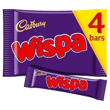 Cadbury Wispa Chocolate Multipack 4 X30g