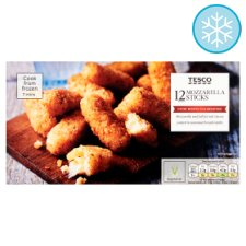 Tesco Frozen 12 Mozzarella Sticks 180G