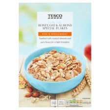 Tesco Low Fat Honey Oats Almond Special Cereal 500G