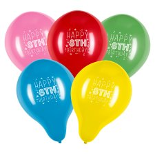 Tesco 10 Pack Happy Birthday Balloons Age 8