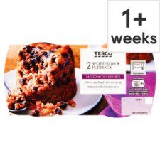 Tesco Spotted Dick Puddings 210G