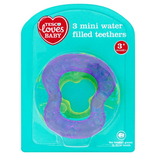 Tesco Loves Baby Mini Teethers 3 Pack