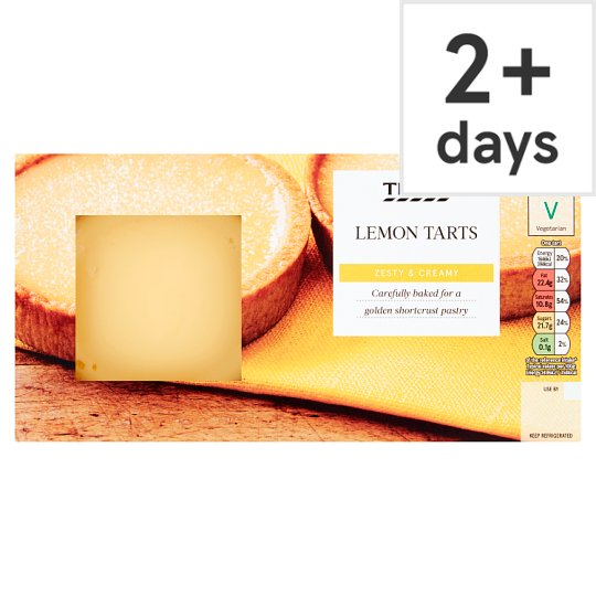 Tesco Zesty Lemon Tarts 2 X 110G