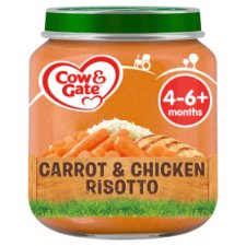 image 1 of Cow & Gate Stage 1 Carrot And Chicken Risotto 125G Jar
