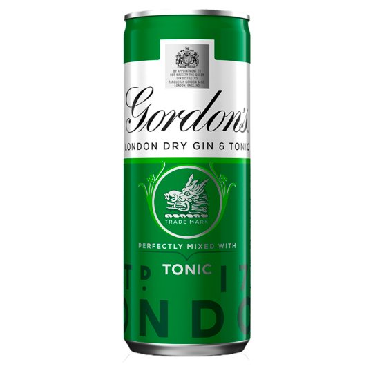 image 1 of Gordons Gin And Schweppes Tonic 250Ml Can