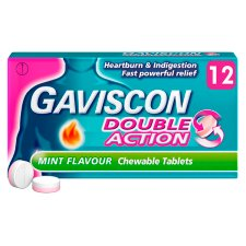 Gaviscon Double Action Mint 12 Tablets