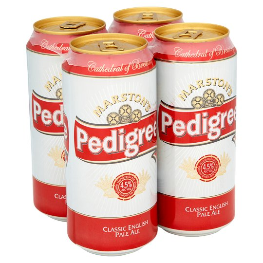 Marstons Draught Pedigree Bitter 4X440ml Cans