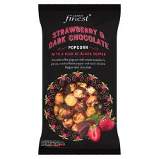 Tesco Finest Strawberry Pepper Dark Chocolate Popcorn 170 G