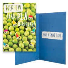 Tesco Birthday Card Nephew Hap-Pea Birthday!
