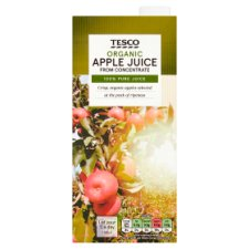 Tesco Organic Apple Juice 1 Litre