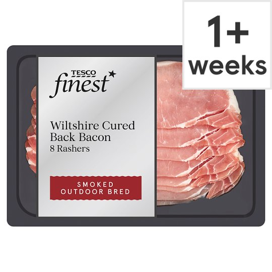 Tesco Finest Smoked Wiltshire Cure Back Bacon 240G