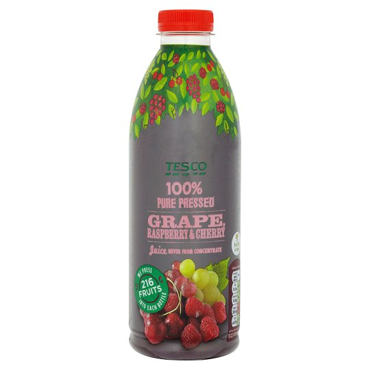 Tesco Red Grape Raspberry And Cherry Not From Concentrate 1Ltr